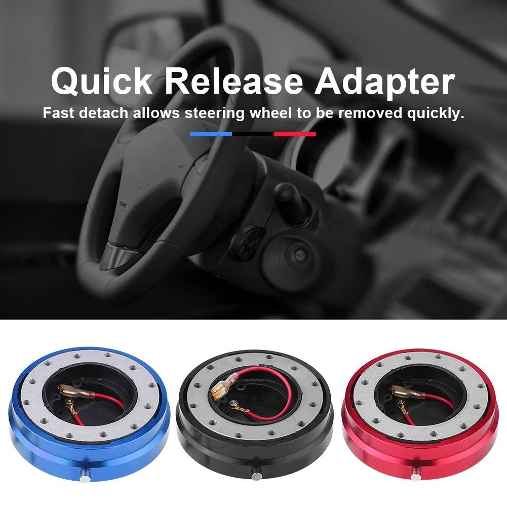 bleu Qiilu Moyeux de Volant Universal Kit de moyeu dadaptateur /à d/égagement rapide pour voiture de course