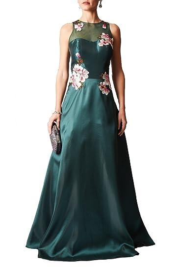 Mascara Forest Green MC181246P Flower Bomb Structured Dress UK 18
