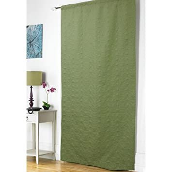 Embossed Thermal Door Curtain Panel Energy Saving Draught Draft ...