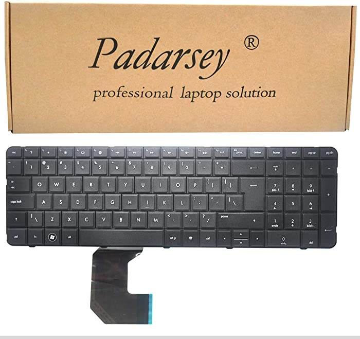 Padarsey New Keyboard Replacement for HP Pavilion G7 G7T R18 G7-1000 G7-1100 G7-1200 G7-1001XX G7-1017CL G7-1019WM G7-1033CL G7-1051XX G7-1070US G7-1073NR G7-1076NR G7-1154NR Series Black US Layout