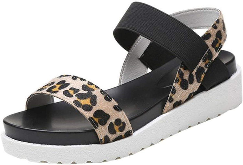Shoes Woman Fashion Sandals Women Aged Leather Flat Sandals Ladies Shoes