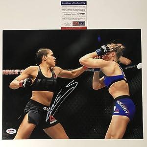 Autographed/Signed Amanda Nunes UFC MMA Fighting 11x14 Photo PSA/DNA COA #3