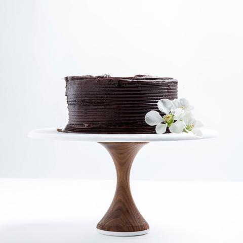 AHeirloom's Walnut Cake Stand Thin Base | AHeirloom