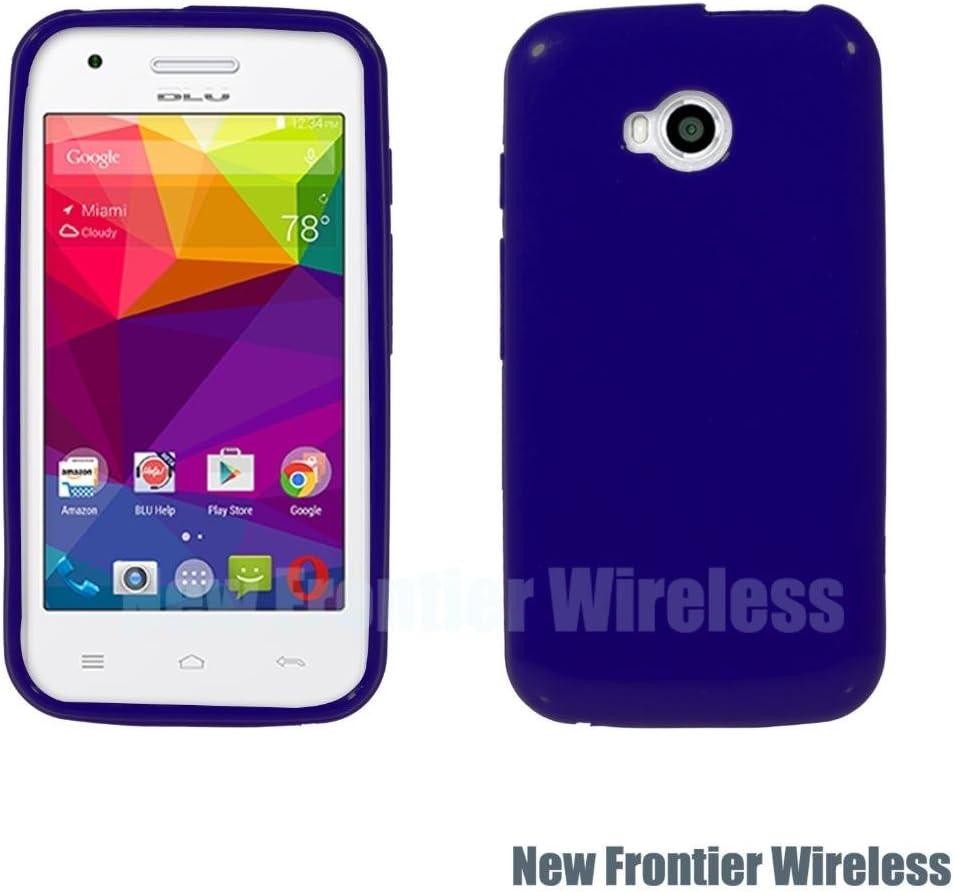 BLU Dash L (D050U) TPU Gel Rubber Soft Skin Silicone Protective Case Cover (TPU Blue)
