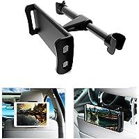 Pzoz Car Headrest Mount Holder for Tablet & Phones (Black)