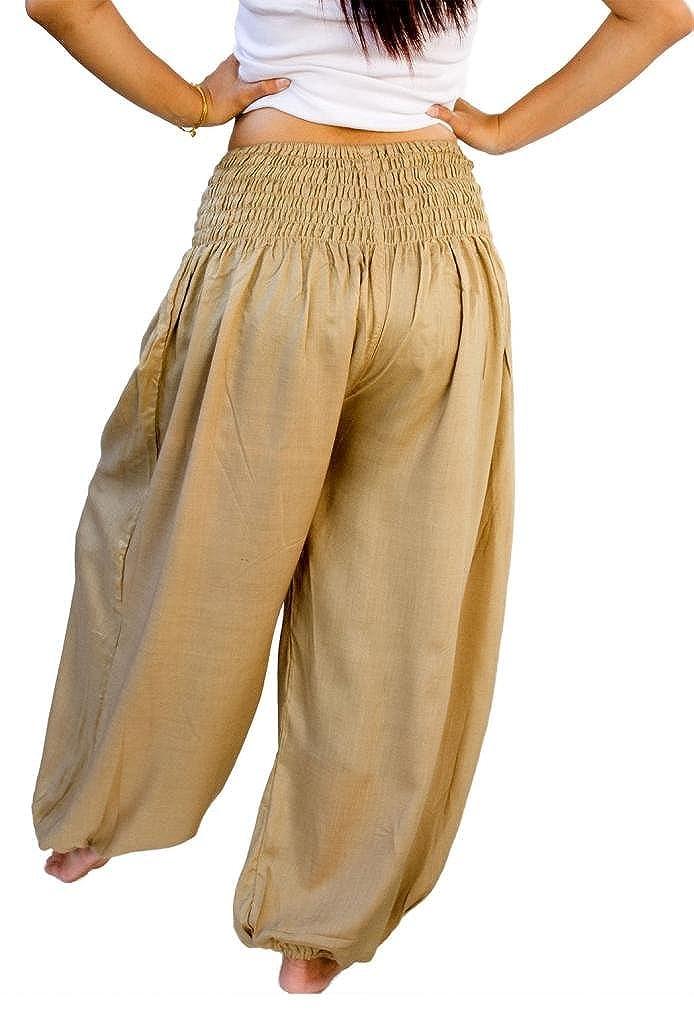 d42e843157835 Amazon.com: Siam Secrets Unisex Alibaba Harem Beach Yoga Pants One-Size  Khaki: Clothing