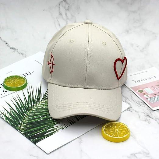 zhuzhuwen Sombrero Versión Coreana del Amor Salvaje Bordado Gorra ...