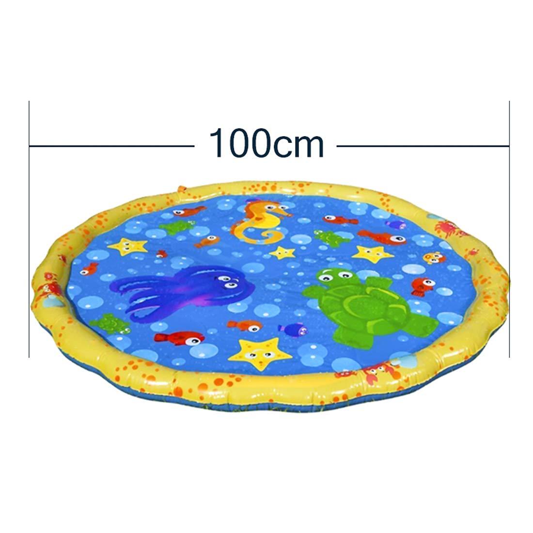 100 x 100 cm MAJOZ Baby Wasser Spielmatte Aufblasbare Tastmatte Spielzeug und Sensory Baby Ball Wasser Splash Play Matte,Sommer Garten Wasserspielzeug