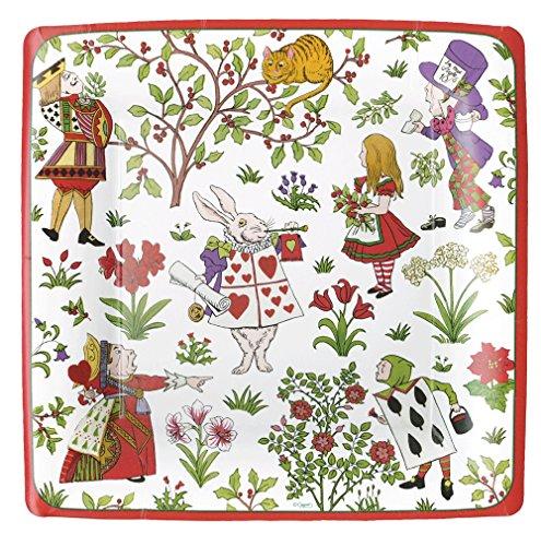 Entertaining with Caspari 13290DP Alice in a Winter Wonderland, Dinner Plate, Multicolor Alice Dinner Plate