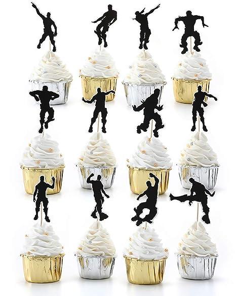 24 decoraciones para cupcakes de baile, decoración para ...