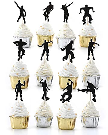 24Pcs Dance Cupcake Toppers Cake Decor For Birthday Party ...