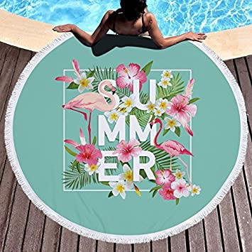 GSYAZTT Toallas de Playa Redondas Flamencos para Servilletas Adultas La Toga Toalla Playa Toallas Playa Toallas de Microfibra Suave Toallas Redondas ...