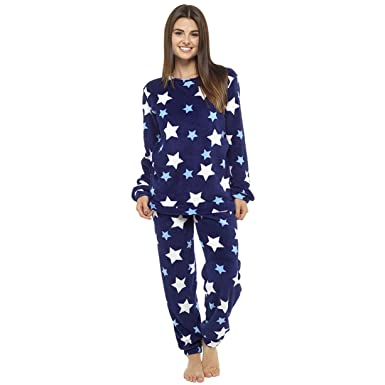 ec779601fe Ladies Fleece Twosie Star Print Novelty Pyjama Set (16-18