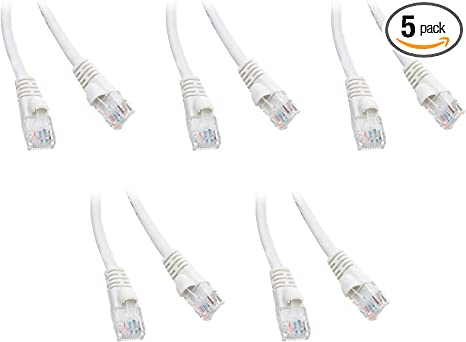 50 Foot Color:White Sonovin Cat6 White Ethernet Patch Cable Snagless//Molded Boot