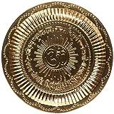 Hindu Puja Thali Om Gayatri Mantra Accessory For Mandir Temple Diwali Gifts
