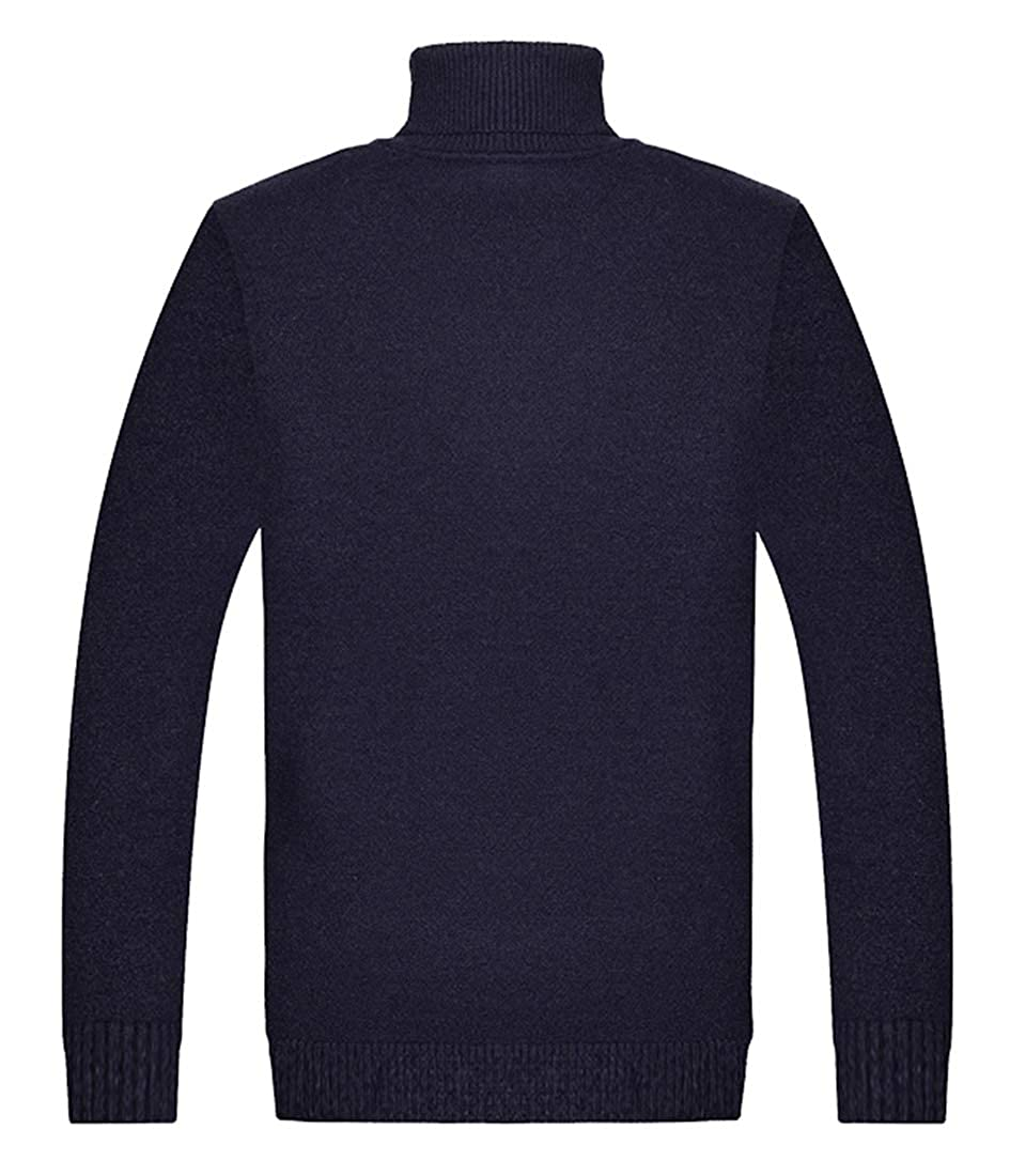 Yayu Men Basic Ribbed Thermal Knitted Pullover Slim Fit Turtleneck Sweaters