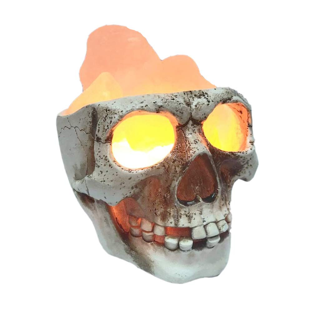 3D USB Skull Himalayan Salt Lamp, LED Adjustable Skull Lamp with Dimmer Switch,Best Ideal Gift,Holiday Gift Skull Light by Lucktao