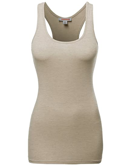 50add155563bcd Awesome21 Women s Basic Solid Racerback Tank Tops at Amazon Women s ...