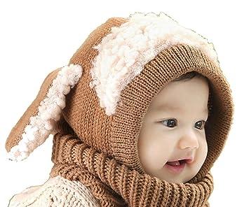 ca3055ec8ab6c 子供 アニマル 耳付き ニット帽 赤ちゃん ネックウォーマー ニットキャップ スヌード キッズ ベビー 秋冬