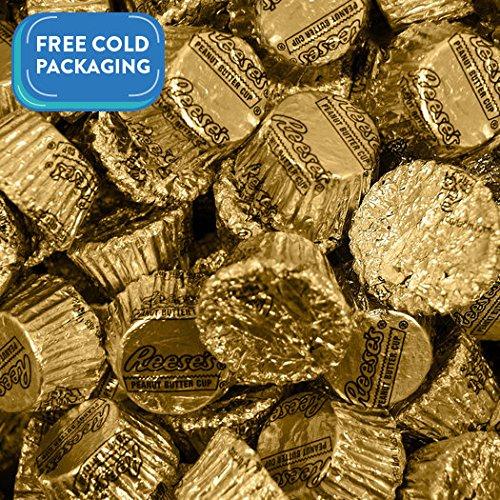Bulk Chocolate 5 lb Bag REESE'S Peanut Butter Cups Gold Foil
