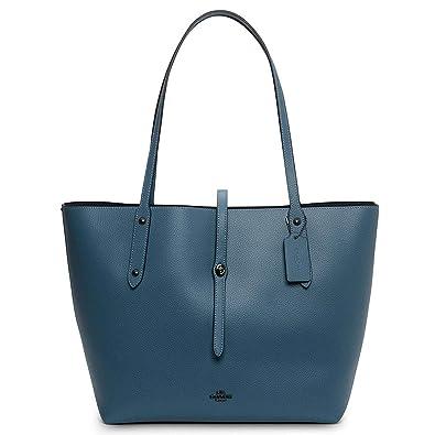 28d7fc0e03 Amazon.com  Coach Ladies Large Leather Market Tote Handbag 58849DKCMB  Shoes