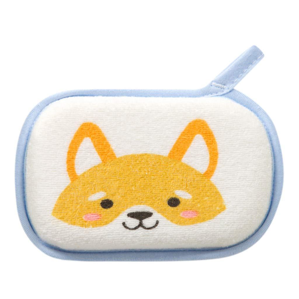 DORIC Summer Newborn Baby Kids Shower Bath Sponge Cartoon Body Wash Towel Accessories Toy