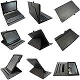 Coodio® Asus Transformer Book T100TA Tablet 360 Grad Drehbar Lederhülle Tasche Cover Mit Ständer Gebaut in Handgriff (Unterstützen Keyboard) - Farbe Schwarz