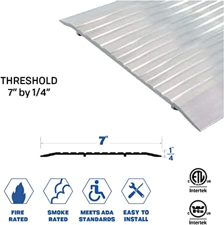 5 Wide x 1//2 High Corrugated Aluminum Threshold 48 3//4 Long