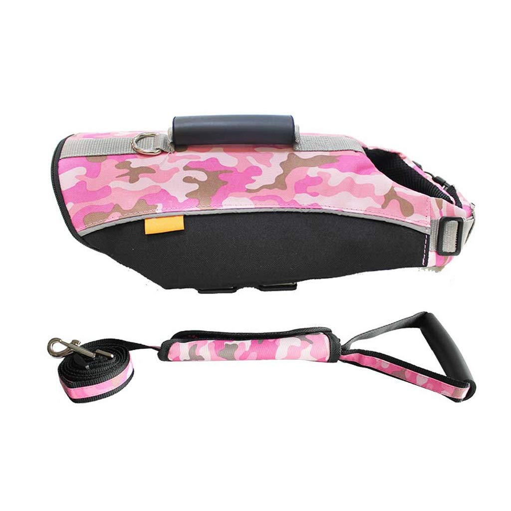 Camouflage pink B Xl Camouflage pink B Xl Dog Leash Harness Set with Collar & Heavy Duty Denim Dog Leash Collar for Medium Large Dog,3 colors (color   Camouflage Pink B, Size   XL)