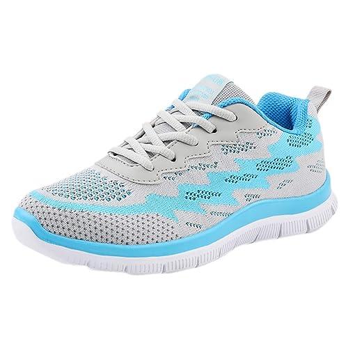 Logobeing Zapatillas de Deporte con Cojines de Aire Calzado de Running Net  para Estudiante Volar Zapatos 16f32527ab579