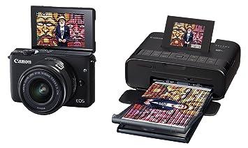 Cámara compacta Canon EOS M10 + impresora fotográfica Canon ...