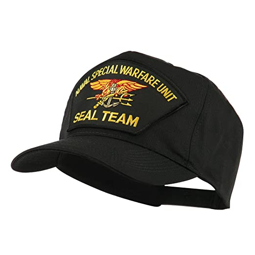 Navy Seal Team Large Patched Cap - Black Seal OSFM at Amazon Men s ... ee7de0c33ea9