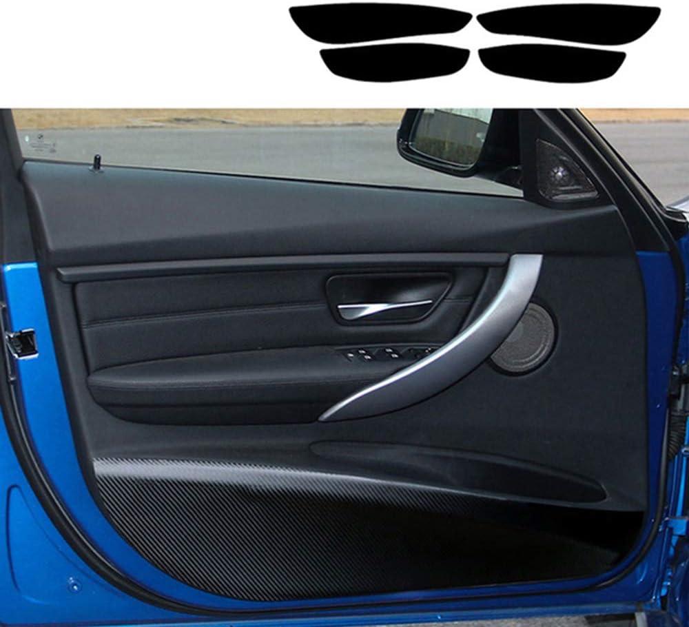 Luvcarpb 4 Stück Autotür Aufkleber Anti Kick Pad Staubdicht Kohlefaser Fit Für Bmw F30 F31 3er M Performance Sport Freizeit
