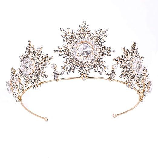 Corona de Oro de la Novia de Tiara Casada Casos Adultos de ...