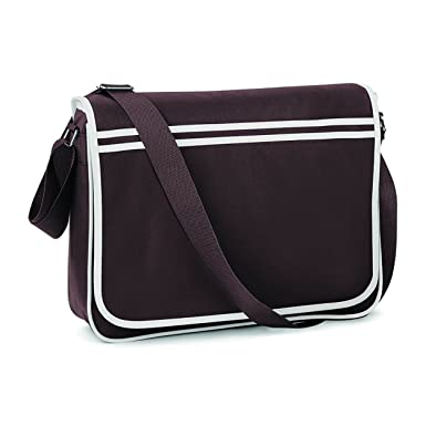 17e9f2801 BAGBASE FUNKY RETRO MESSENGER BAG (4 COLS) (BLACK/WHITE): Amazon.co.uk:  Luggage