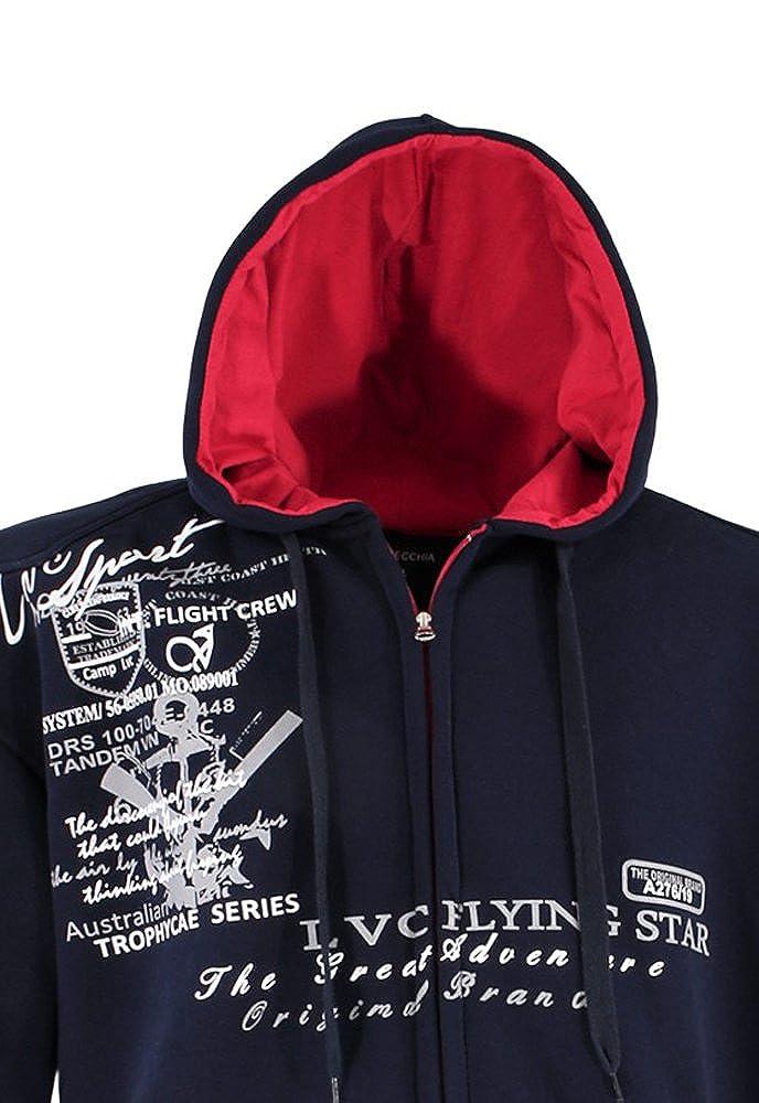 Lavecchia Shirt Tendance Capuche Veste Avec Sweat Et Fermeture TlF1KJc
