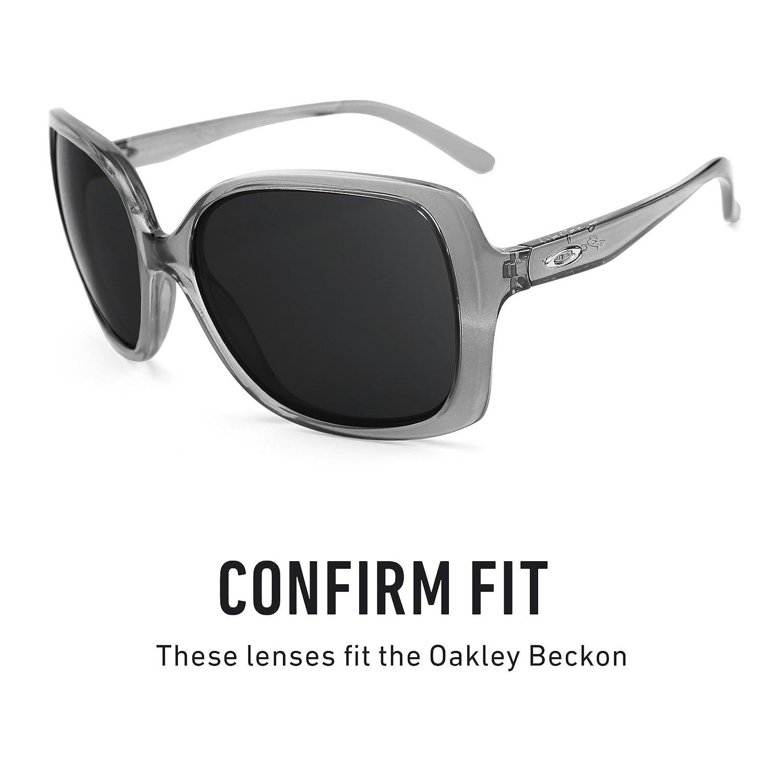 fc05e0c630 Revant Polarized Replacement Lenses for Oakley Beckon Black Chrome  MirrorShield at Amazon Men s Clothing store