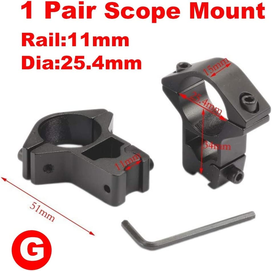 25.4mm-Bereich-Einfassung Rifle Ringe Montage 11mm Schwalbenschwanz Scope Schiene Farbe : M0159 20mm Picatinny for Gewehr-Bereich-Einfassung Jagd NO LOGO L-Yune 2ST 30mm