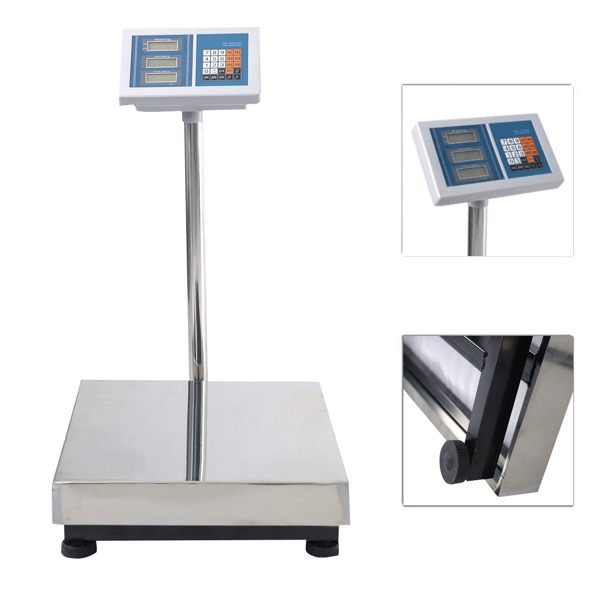 660LB / 300KG Weight Computing Digital Floor Platform Scale Bench | Weighing Post Office Shipping Food Agriculture Livestock