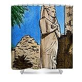 Pixels Shower Curtain (74'' x 71'') ''Karnak Temple Egypt''