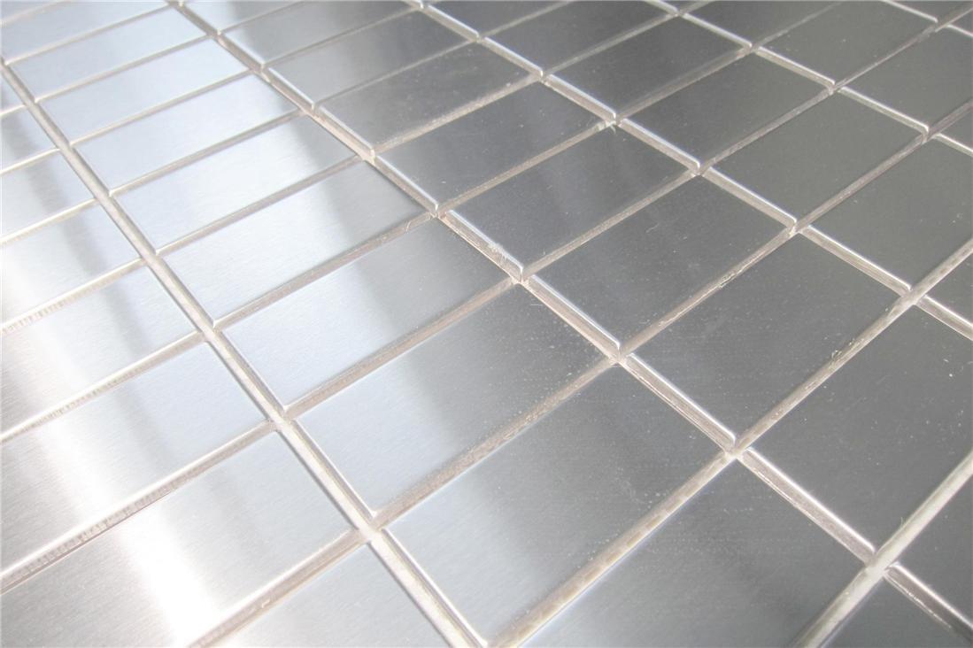 silber Gebürstete Edelstahl Mosaikfliesen 30cm x 30cm Matte Für Wand MT0037