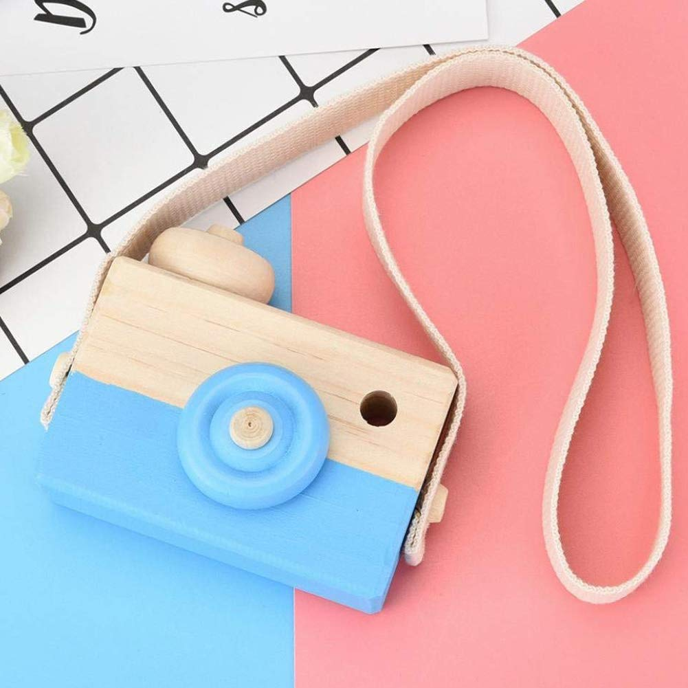 Sel-More Kids Wooden Mini Camera Toy Pillow Kids' Room Hanging Decor Portable Toy Gift