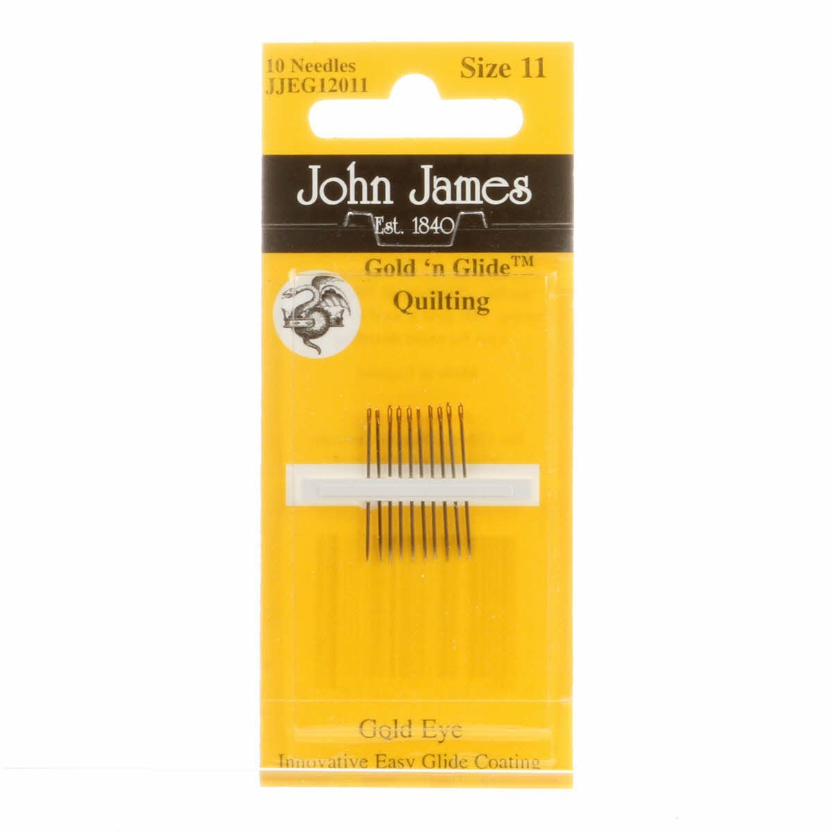 John James Goldn Glide Quilting Betweens Needles Package of 10