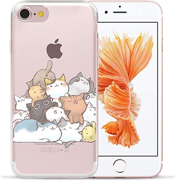 Cute Cartoon Cat Silicone Case For Coque Iphone 5 5s Se 6 6s 7 8 Plus Xs Max Xr X Phone Soft Tpu Back Cover 7 For Iphone 5 5s Se Amazon Ca Cell Phones Accessories