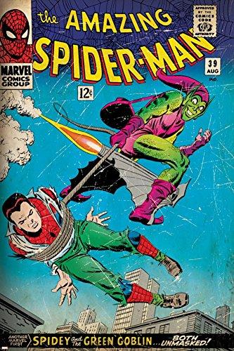 Marvel Comics Retro: The Amazing Spider-Man Comic Book Cover No.39, Green Goblin (aged) Poster 24 x 36in