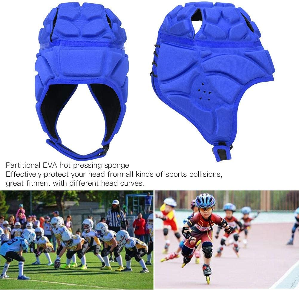 Adult S//M//L//XL Teenager Vbest life Rugby Helmet Soft Shell Protective Headgear for Reduceing Impact Collision Protection Children