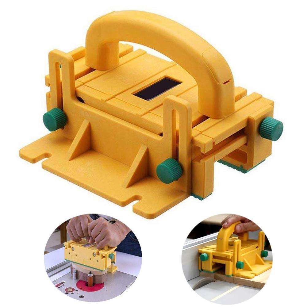 WoLoYo Bloc Poussoir 3D Avancé pour Scie à Table, Table De Routeur, Scie à Ruban Et Joint pour Plan De Travail - Pièce De Travail De Sécurité - Bloc De Travail du Bois -Outil De Fraisage Jig Set