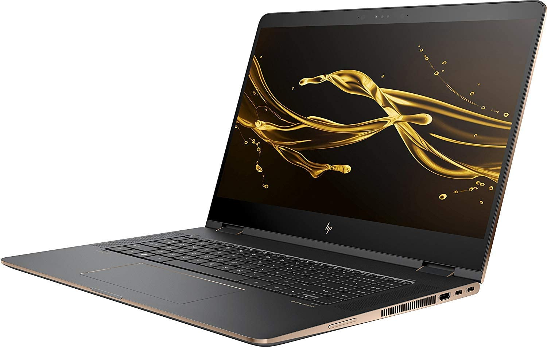 "HP Spectre x360 2-in-1 15.6"" 4K Ultra HD WLED-Backlit Touchscreen Laptop, Intel Quad-Core i7-8550U up to 4.0GHz, 16GB DDR4, 512GB NVMe SSD, NVIDIA MX150, Webcam, Bluetooth, Thunderbolt, Windows 10"