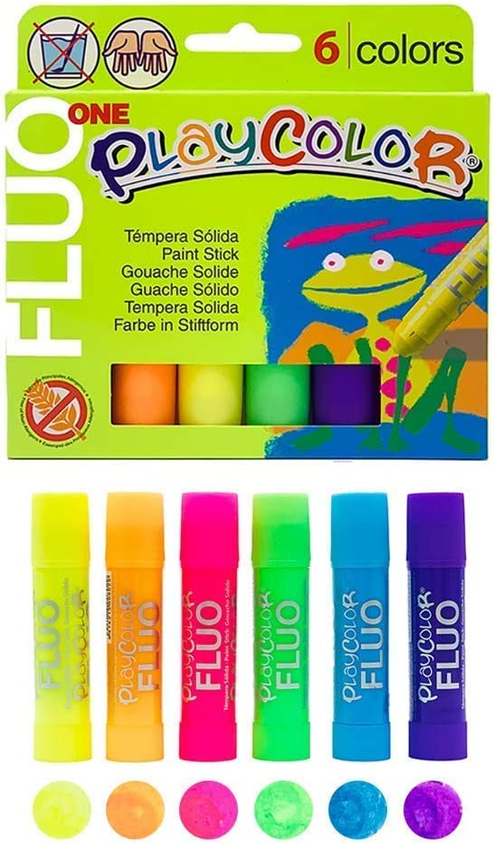 Playcolor Fluorescent Paint Sticks - 6 Color