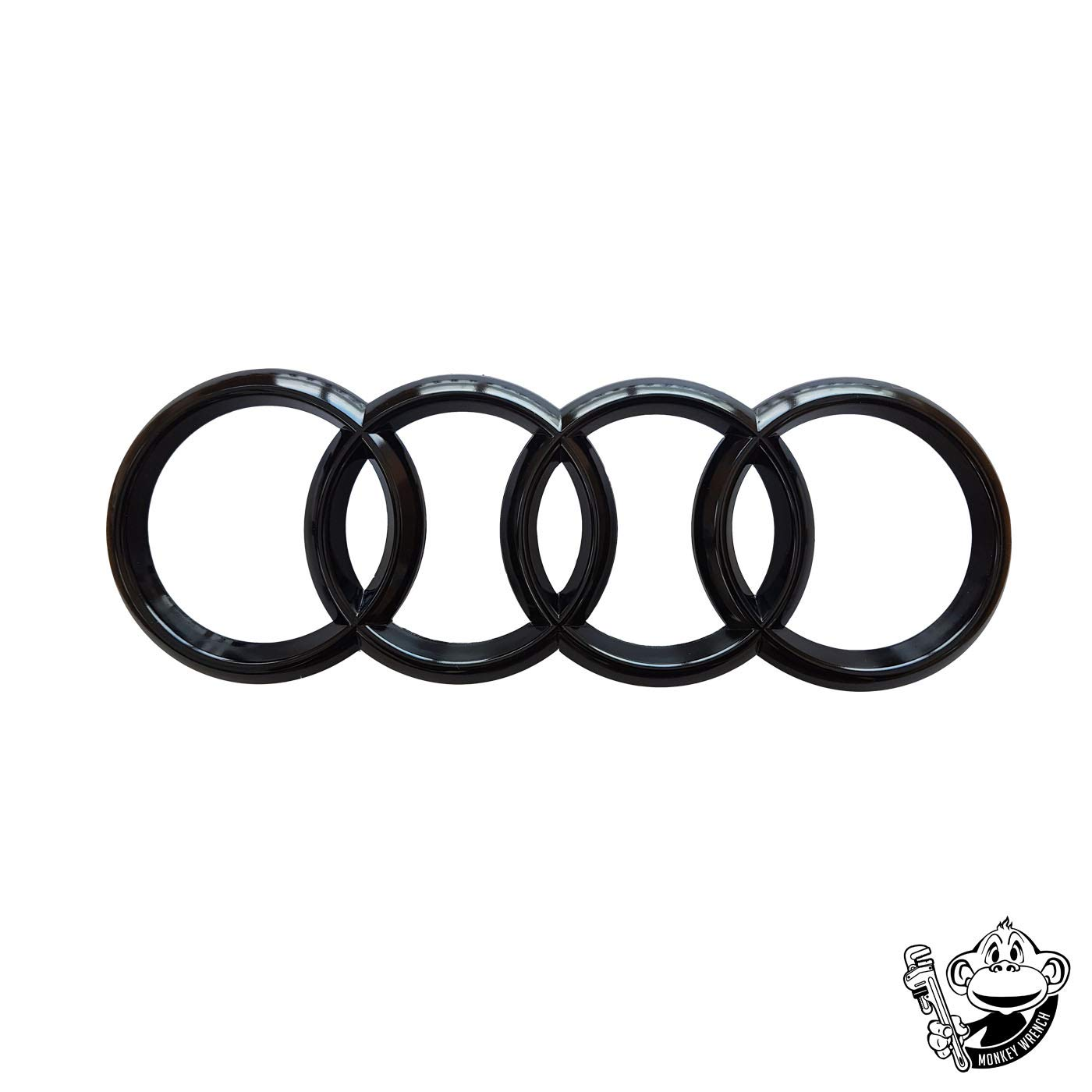GLOSS BLACK FRONT GRILLE BADGE A3 S3 RS3 A4 A5 A6 S-LINE 273x94mm Monkey Wrench Ltd